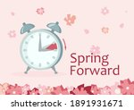 clock forward in spring.... | Shutterstock .eps vector #1891931671