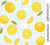 cute vector seamless pattern... | Shutterstock .eps vector #1891935157