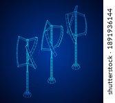 darrieus wind turbine. windmill ... | Shutterstock .eps vector #1891936144