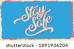 stay safe. home banner template.... | Shutterstock .eps vector #1891936204