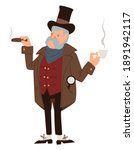male personage smoking cigar... | Shutterstock .eps vector #1891942117