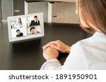 online conference. digital... | Shutterstock . vector #1891950901