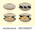 oyster cartoon sea shell...   Shutterstock .eps vector #1891960027