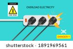 electric risk burn. electric... | Shutterstock .eps vector #1891969561