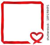 Vector Card. Heart Of Satin...