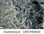Water Foam Background With...