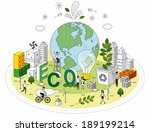 smart life and recycling  eco... | Shutterstock . vector #189199214