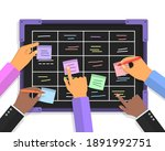 team people hands sticking work ...   Shutterstock .eps vector #1891992751