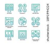 ux ui design icons set gradient ... | Shutterstock .eps vector #1891994224