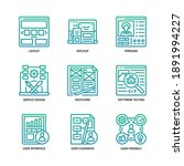 ux ui design icons set gradient ... | Shutterstock .eps vector #1891994227