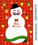 illustration of christmas...   Shutterstock . vector #189199475