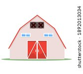 Barn House On A White...