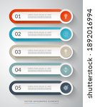 5 step process chart for... | Shutterstock .eps vector #1892016994