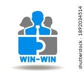 business partner puzzle vector... | Shutterstock .eps vector #1892034514