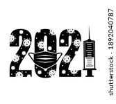 happy new year 2021. vector...   Shutterstock .eps vector #1892040787
