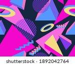 geometric memphis seamless...   Shutterstock .eps vector #1892042764