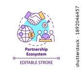 partnership ecosystem concept... | Shutterstock .eps vector #1892046457