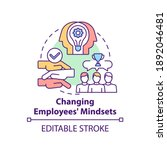 changing employees mindsets... | Shutterstock .eps vector #1892046481