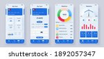 set of ui  ux  gui screens... | Shutterstock .eps vector #1892057347