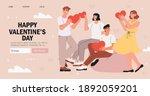 valentines day banner ...   Shutterstock .eps vector #1892059201