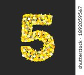 gold glittering number five on... | Shutterstock . vector #1892059567