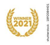 laurel wheat awards heraldry... | Shutterstock .eps vector #1892084401