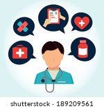 medical design over white... | Shutterstock .eps vector #189209561