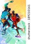 illustration of sports ... | Shutterstock . vector #189210161
