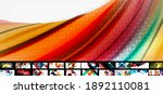 set of vector abstract... | Shutterstock .eps vector #1892110081