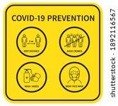 coronavirus covid 19 prevention ... | Shutterstock .eps vector #1892116567