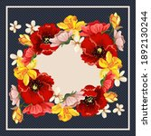 flower pattern for scarf and...   Shutterstock .eps vector #1892130244