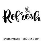refresh. hand drawn typography... | Shutterstock .eps vector #1892157184