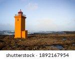 Orange Stafnesviti Lighthouse...