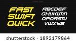 fast swift quick alphabet.... | Shutterstock .eps vector #1892179864