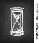 vintage hourglass. antique... | Shutterstock .eps vector #1892183611