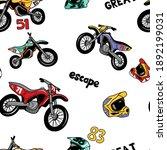 vintage motorcycle racing...   Shutterstock .eps vector #1892199031