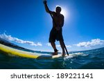 stand up paddle boarder... | Shutterstock . vector #189221141