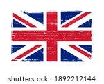 vintage scratched flag of... | Shutterstock .eps vector #1892212144