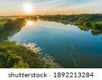 hot air balloons soaring over a ... | Shutterstock . vector #1892213284