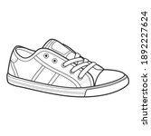 shoe line drawing. shoes... | Shutterstock .eps vector #1892227624