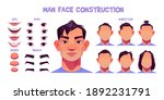 asian man face construction ... | Shutterstock .eps vector #1892231791