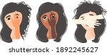 dissociative identity disorder... | Shutterstock .eps vector #1892245627