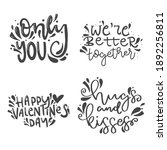 happy valentine' day.set of... | Shutterstock .eps vector #1892256811