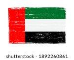 vintage scratched flag of uae. | Shutterstock .eps vector #1892260861