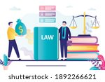 lawyer helps people. male...   Shutterstock .eps vector #1892266621