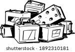 pile of car batteries. old car...   Shutterstock .eps vector #1892310181