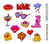 valentine's day colorful... | Shutterstock .eps vector #1892321254