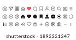 social networking icon set....   Shutterstock .eps vector #1892321347