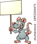 cartoon rat or mouse holding a... | Shutterstock .eps vector #1892344471