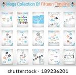 mega collection of fifteen...   Shutterstock .eps vector #189236201